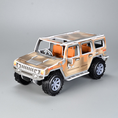 Inertia Hummer 3D three-dimensional puzzle assembled car model paper handmade diy intellectual toys for children