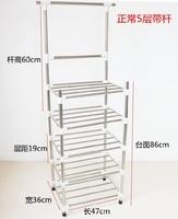 不锈钢脸盆架落地洗脸盆架子四角架多层面盆架厨房卫生间置物架