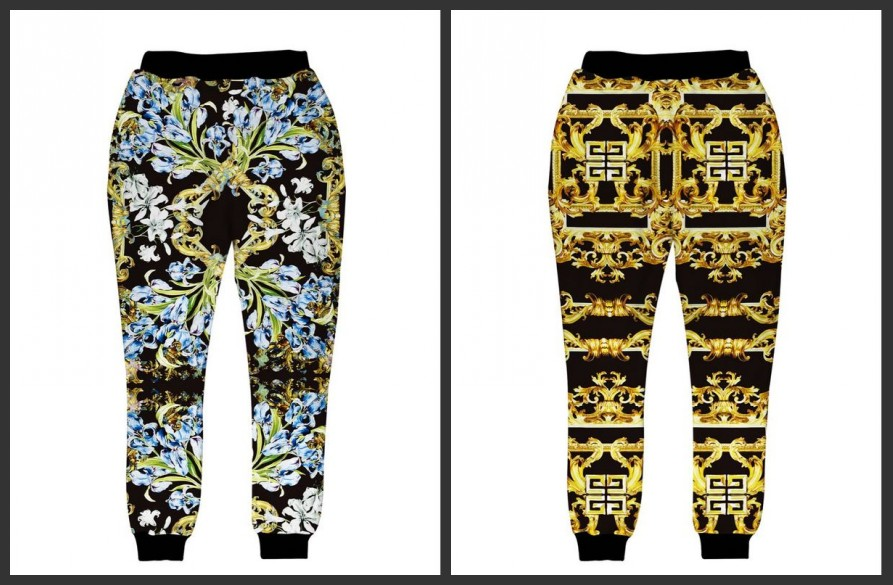 Tide brand iswag Bat Norton lily pattern 3D character Harajuku Wei pants casual trousers for men and women sports