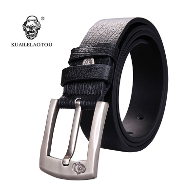 kuailelaotou authentic men's business Korean leather belt fashion belt