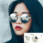 Retro fashion sunglasses Men's and women's neutral vintage round metal frame glasses