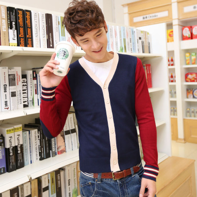 JVR 2014 Hitz men's sweater Korean version of the cardigan sweater V-neck sweater sweater men cardigan