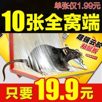 10张粘鼠板超强力老鼠贴驱鼠灭鼠器夹老鼠胶大老鼠笼药家用捕鼠器