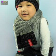 She show love children more scarf boy girl han edition in the fall and winter baby wool scarf knitting to keep warm in winter