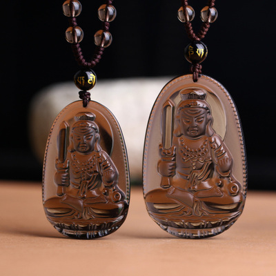 Natural opening of the ice does not move kind of obsidian pendant Buddha statue Yamashina crystal jewelry for men and women is a chicken natal Buddha
