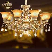 Gianfranco zola european-style lamp droplight Jane type restoring ancient ways the sitting room lamp rural bedroom romantic restaurant crystal lighting lamps and lanterns