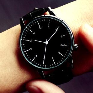 手表女士学生时尚潮流防水简约夜光男表皮带女表情侣手表一对