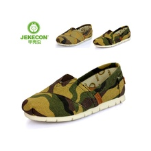 Jekecon beetle's shoes The lazy man shoes students ZhongTong leather insoles camouflage wind