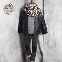 2015 新款儿童外套 男女童秋款皮外套一粒扣 中小童时尚韩版皮衣