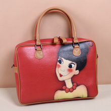 YOUK SHIM WON hand-painted Liu Xin apologise with customized briefcase fan bingbing with computer bag shoulder bag