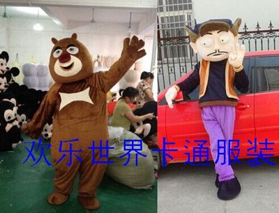 Xiong walking cartoon dolls costumes / cartoon costume cartoon bear infested clothing Xiongda Guang head strong