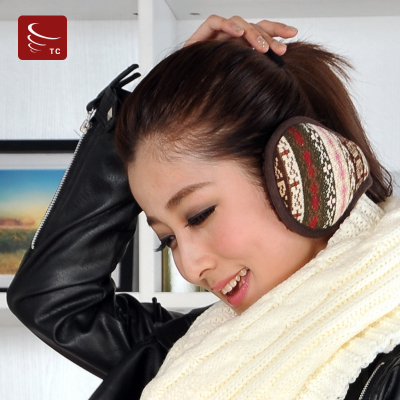 Cheng Lo winter lake lovers plush earmuffs earmuffs ear package men and women knitted wool jacquard cover their ears warm ear thickening