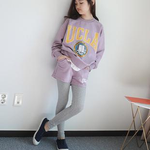 韩国中大童装2018春秋儿童女童运动套装套装两件套