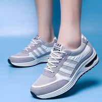 春款厚底学生运动鞋女版跑步旅游鞋内增高松糕休闲鞋潮百搭阿甘鞋