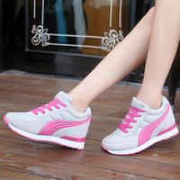 包邮春夏季隐形内增高8CM运动鞋女学生休闲旅游鞋坡跟34码网眼鞋