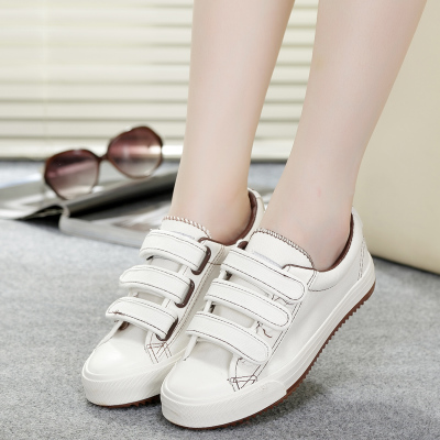 Low to help Velcro lazy fall flat canvas shoes female Korean students tide shoes casual shoes shoes