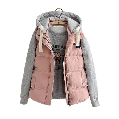 Evening snow fall and winter 2014 new large size women vest hooded vest Korean Slim thick padded jacket