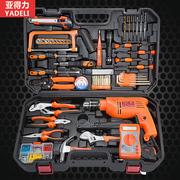 亚得力手动家用五金工具套装 多功能电工木工维修盒组合工具箱