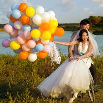 10寸哑光加厚乳胶亚光氦气球氢气球婚礼房布置装饰拱门结婚氦气罐