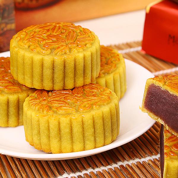 【月饼】巧焙 广式中秋月饼 蛋黄白莲蓉 莲蓉双黄月饼多口味 60g特价