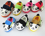 Autumn and winter package with cotton slippers men and women cute cartoon children warm plush thick crust home house low-slip shoes