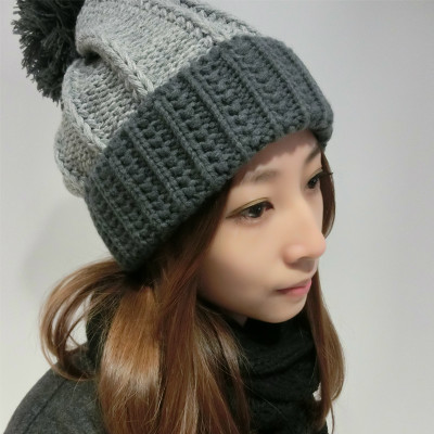 Korean men and women wearing hair hat tide warm winter days, knitted wool cap sports with free shipping