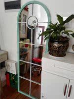 美式乡村家具壁挂穿衣镜做旧落地镜试衣镜全身镜玄关装饰镜子挂镜