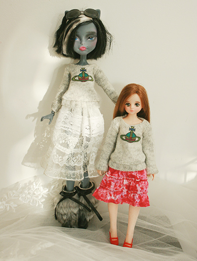 monster high monster high doll clothes long-sleeved sweater sweater dorandoran wear