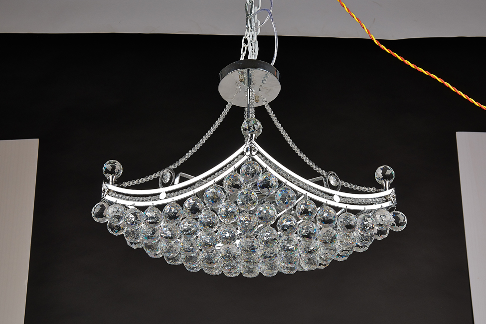 Small boat modern bright crystal pendant light _ 水晶灯LED