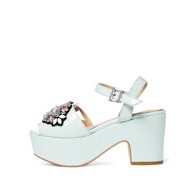The new heavy-bottomed shoes ASOS HIP HOP thick with jewel sandals | 437905