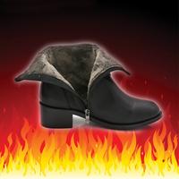 2015新款潮秋冬马丁靴 女粗跟中跟短靴 女鞋英伦风加绒短筒女靴子