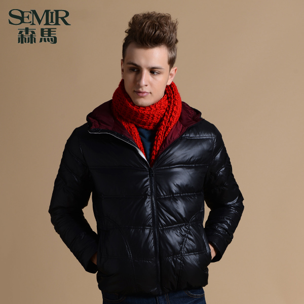 Semir men's 2014 winter new men's short paragraph thick warm coat Slim Down Down adolescents