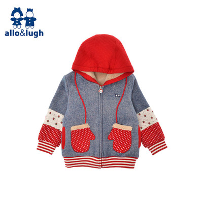 allolugh A road and as girls zipper jacket children new winter coat Korean retro small children