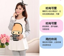 The spring and autumn period and the pure cotton lili Fashion cartoon to breast-feed Household pajamas mail