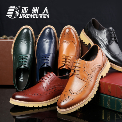 Asian carved Bullock's shoes breathable leather casual men shoes British baroque retro single shoes tide