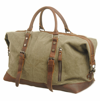Mobile Messenger large capacity canvas leather man bag shoulder bag travel luggage bag luggage bag thickening