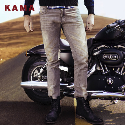 KAMA Kama do the old men's fashion wild in the waist straight jeans male straight trousers 2413324