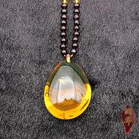 润华琥珀 天然缅甸琥珀原石原矿 保真无优化净水金蓝琥珀随形挂坠