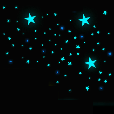 Creative birthday gift luminous luminous patch luminous stars dimensional fluorescence Korean wall stickers Christmas