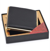 包Vulcan纯铜烟盒包皮  皮香菸烟盒20支装超薄精品烟盒好手感