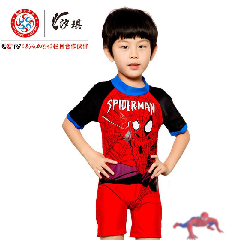 Children's swimwear piece swimsuit beach sun Small Medium Large male child baby Spa Spiderman Swim Shorts