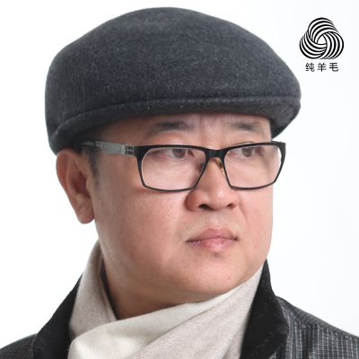 Middle-aged men in autumn and winter cap hat cap elderly old man hat thick warm woolen hat forward tide