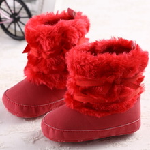2014 new winter type 0 and 1 year old baby girl baby boots winter shoes soft bottom toddler baby infant cotton shoes cotton shoes