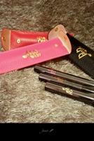 包邮正品panpan纤长浓密分明三色睫毛膏精致皮套包装A2221
