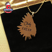 "casterwear ""C.N.D × KREAM necklace""不死酋长24K镀金挂链"