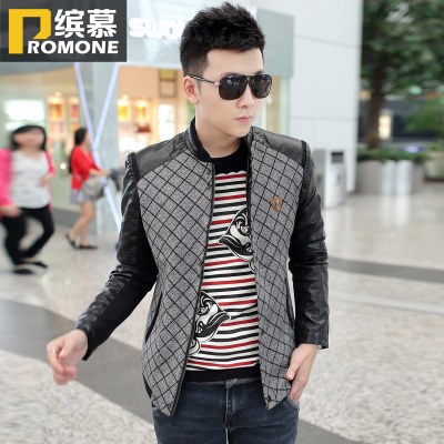 Bin Mu 2014 Spring and Autumn new men's jacket men's casual Korean Slim jacket