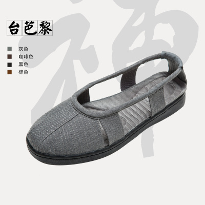 Taiwan Bali Sengxie 2014 summer models breathable all-cotton minimalist shoe deodorant Rohan monk shoes with flat rubber outsole