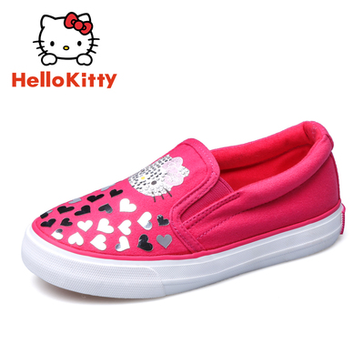 Hello Kitty 新款正品包邮女童鞋休闲鞋运动鞋帆布鞋K6333557