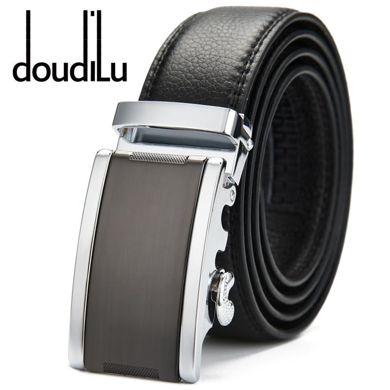 doudilu男士皮带真皮自动扣腰带商务青年中年学生韩版牛皮裤腰带