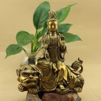 佛教用品纯铜佛像开光五台山摆件文殊菩萨峨眉山普贤菩萨佛像包邮